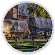 Ghost Of Old West No.1 Round Beach Towel