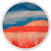 Ghost Ranch Original Painting Round Beach Towel