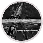 Ghost Ship Round Beach Towel