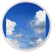 Ghost Ships Round Beach Towel