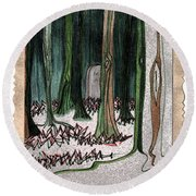 Ghost Stories Forest Graveyard By Jrr Round Beach Towel