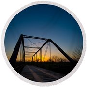 Ghost Town Bridge Round Beach Towel