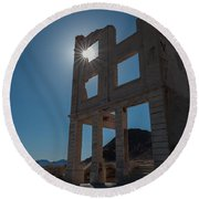 Ghost Town - Rhyolite Round Beach Towel