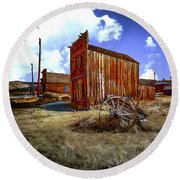 Ghost Towns In The Southwest Round Beach Towel