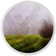 Ghost Tree In The Haunted Forest. Nuwara Eliya. Sri Lanka Round Beach Towel