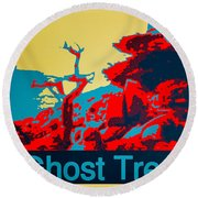 Ghost Tree Poster Round Beach Towel