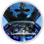 Ghost Under The Hood Round Beach Towel