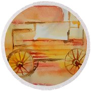 Ghost Wagon Round Beach Towel