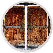 Ghostly Doors By Diana Sainz Round Beach Towel