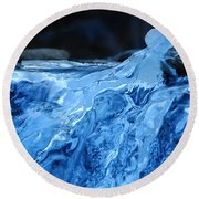 Ghostly Ice Round Beach Towel