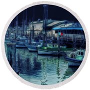 Ghostly Marina Round Beach Towel