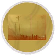 Mississippi Ghostly Morning Round Beach Towel