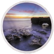 Ghosts In The Cove Round Beach Towel