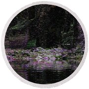Ghosts In Twilight Round Beach Towel