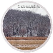 Ghosts Of Fallen Leaves Round Beach Towel
