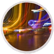 Ghosts Of The Lights Round Beach Towel