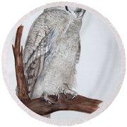 Giant Eagle Owl Round Beach Towel