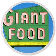 Giant Food Round Beach Towel