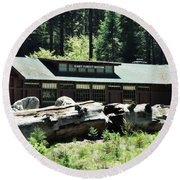 Giant Forest Museum Round Beach Towel