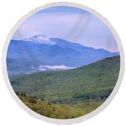 Giant Mountain From Owls Head Round Beach Towel