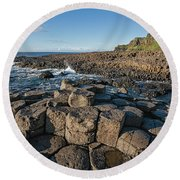 Giant S Causeway, Antrim Coast Round Beach Towel