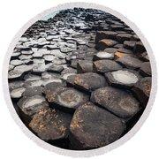 Giant's Causeway Hexagons Round Beach Towel