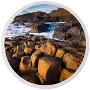Giant's Causeway Surf Round Beach Towel