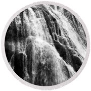Gibbon Falls Round Beach Towel