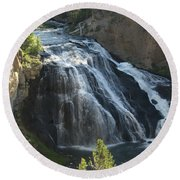 Gibbon Falls I Round Beach Towel