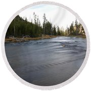 Gibbon River Round Beach Towel