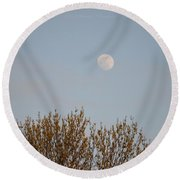 Gibbous Nature Round Beach Towel