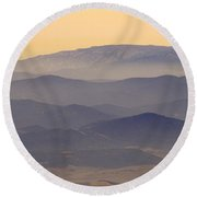 Gibraltar Countryside At Sunset Round Beach Towel