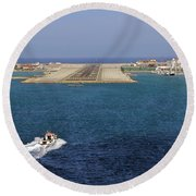 Gibraltar International Airport Round Beach Towel