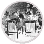 Gibson: Dinner Party, 1894 Round Beach Towel