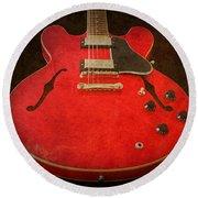 Gibson Es-335 Electric Guitar Body Round Beach Towel