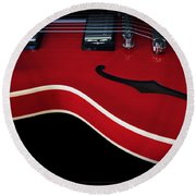 Gibson Es-335 Electric Guitar Round Beach Towel