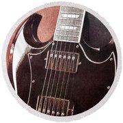 Gibson Sg Standard Red Grunge Round Beach Towel