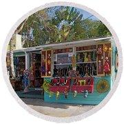 Gift Shop In Key West Round Beach Towel