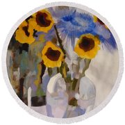 Gifts Of The Sun Round Beach Towel