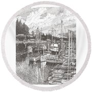 Gig Harbor Entrance Round Beach Towel