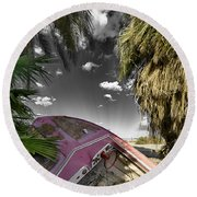 Gilligans Island Black And White 1 Round Beach Towel