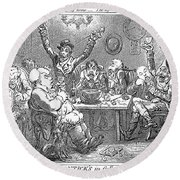 Gillray: Tavern, 1801 Round Beach Towel
