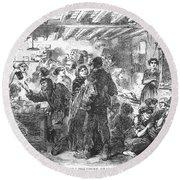 Gin Mill: London, 1861 Round Beach Towel