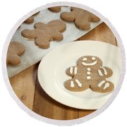 Gingerbread Cookies Round Beach Towel by Juli Scalzi