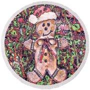Gingerbread Fantastico Round Beach Towel