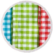 Gingham Round Beach Towel