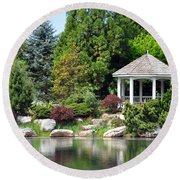 Ginter Gazebo Round Beach Towel