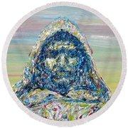 Giordano Bruno Round Beach Towel