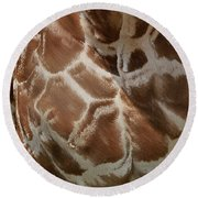 Giraffe Patterns Round Beach Towel