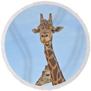 Behind Every Great Male Round Beach Towel